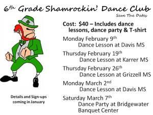 6th Grade Shamrockin' Dance Club-Save The Date