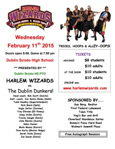 Harlem Wizards Flyer